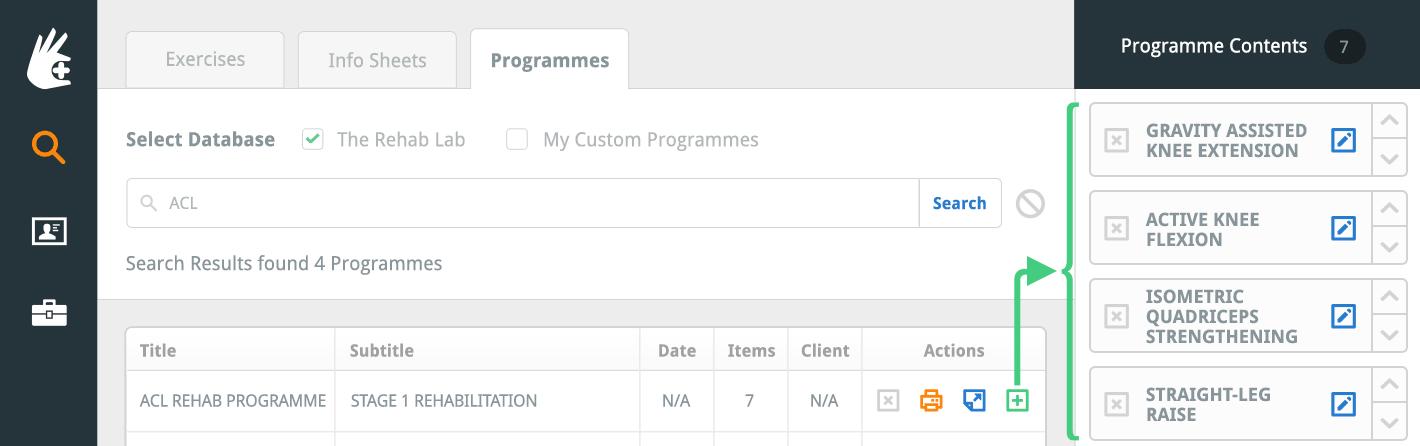 Add programme items