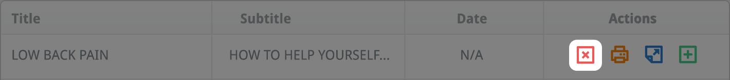 Click the Delete button
