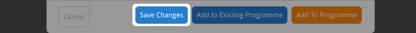 Click the save changes button