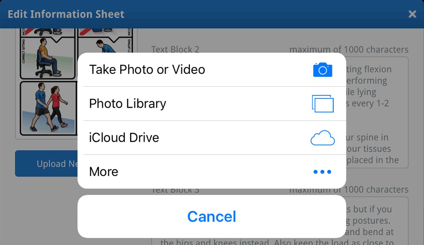 Pad: upload new image prompt