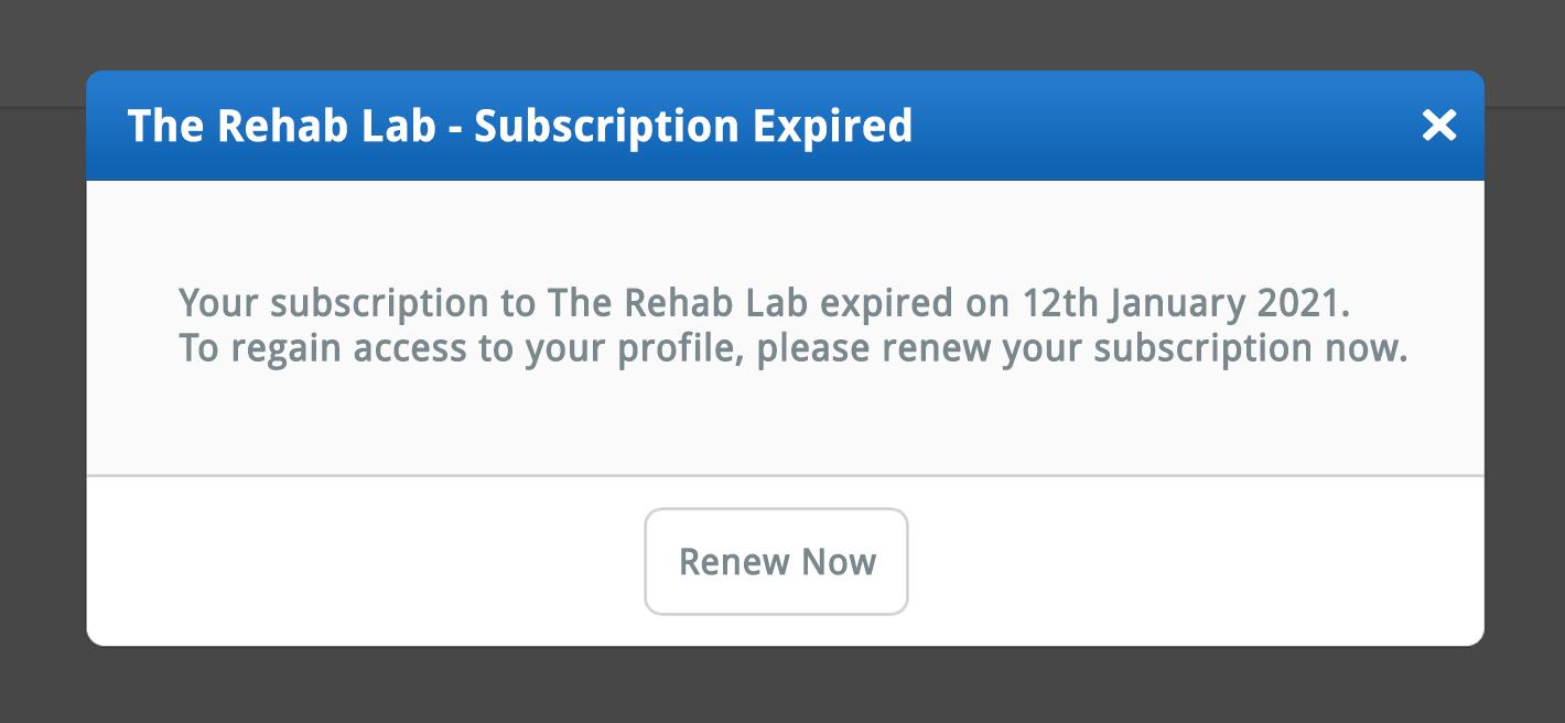 subscription expiration warning