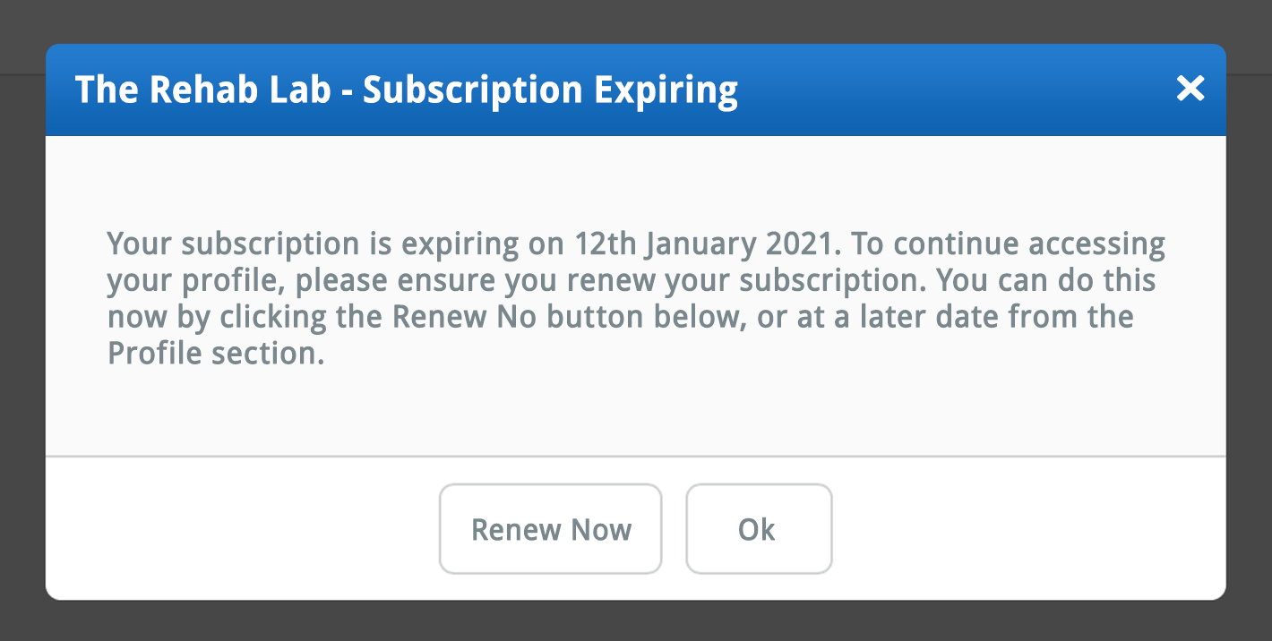 subscription expiring warning